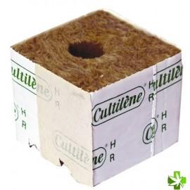 Taco de siembra 40x40x40 lana de roca cultilene