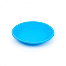 Plato silicona Nogoo redondo azul