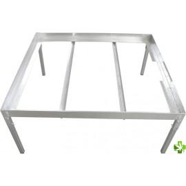 soporte para mesa gris 0,33 x  1,10 m