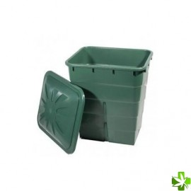 Deposito cuadrado verde 200 l (67 x 67 x 76 cm)